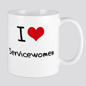 I Love Servicewomen Mug