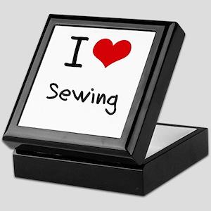 I Love Sewing Keepsake Box