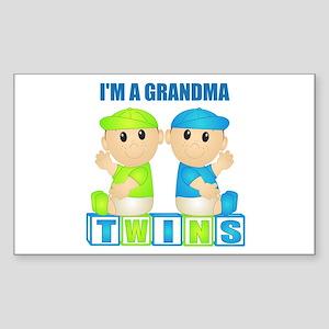 I'm A Grandma (PBB:blk) Rectangle Sticker