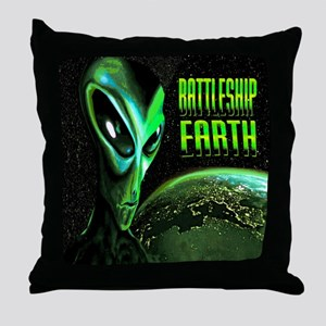 BATTLESHIP EARTH Throw Pillow