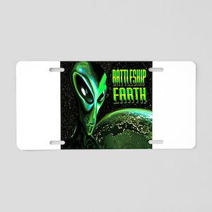 BATTLESHIP EARTH Aluminum License Plate