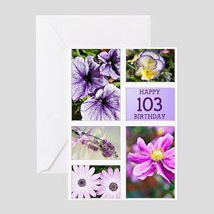 103rd birthday lavender hues Greeting Card