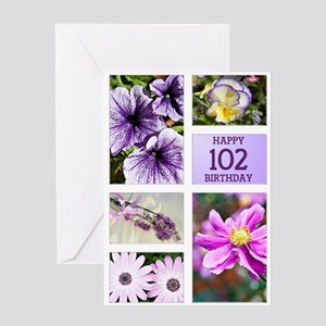 102nd birthday lavender hues Greeting Card