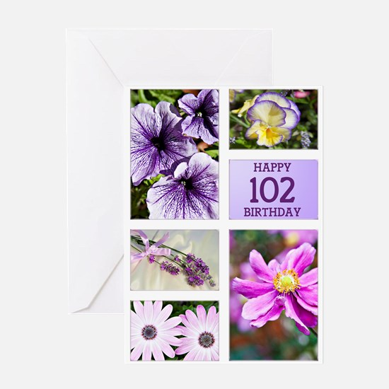 102nd birthday lavender hues Greeting Card
