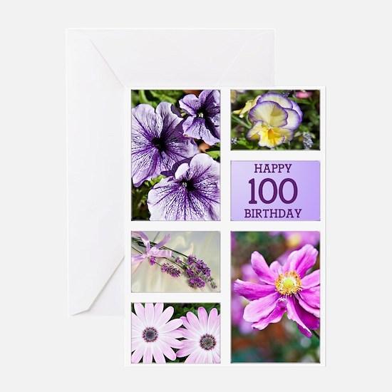 100th birthday lavender hues Greeting Card