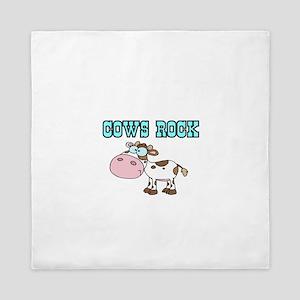 Cows Rock Queen Duvet