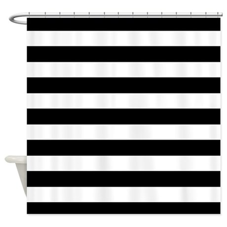 black and white stripe shower curtain by inspirationzstore. Black Bedroom Furniture Sets. Home Design Ideas
