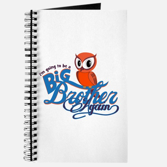 Im going to be a Big Brother Again Owl Journal