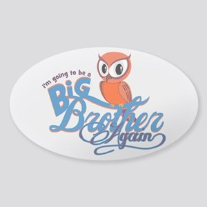 Im going to be a Big Brother Again Owl Sticker