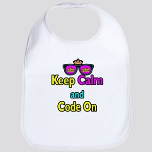 Crown Sunglasses Keep Calm And Code On Bib