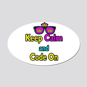Crown Sunglasses Keep Calm And Code On 20x12 Oval