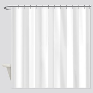 Grey And White Vertical Stripes Shower Curtain