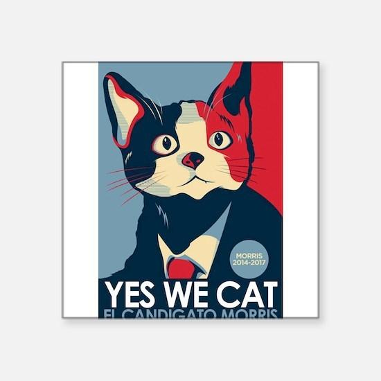 "Candigato - Yes We Cat Square Sticker 3"" x 3"""