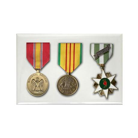 Vietnam Medals Rectangle Magnet