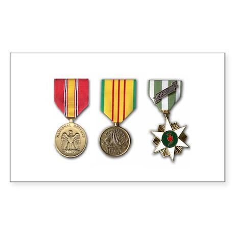 Vietnam Medals Rectangle Sticker