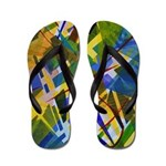 The City I Abstract Flip Flops