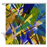 The City I Abstract Shower Curtain