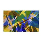 The City I Abstract 35x21 Wall Decal