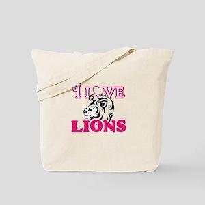 I Love Lions Tote Bag