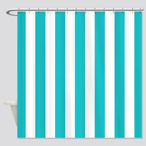 teal striped shower curtain. Teal blue and white stripes Shower Curtain Blue White Striped Curtains  CafePress