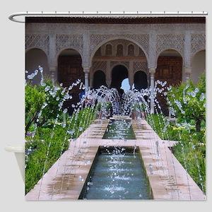 Water Fountains Garden Shower Curtain