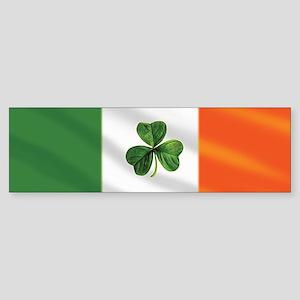 Irish Shamrock Flag Sticker (Bumper)