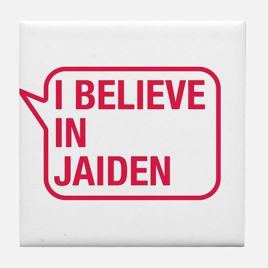 I Believe In Jaiden Tile Coaster