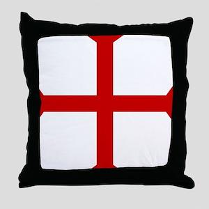 Knights Templar Cross Throw Pillow