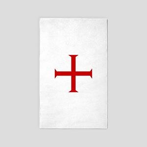 Knights Templar Cross 3'x5' Area Rug