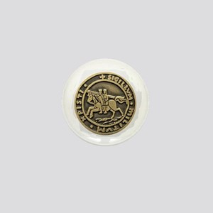 Knights Templar Seal Mini Button