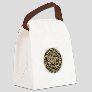 Knights Templar Seal Canvas Lunch Bag