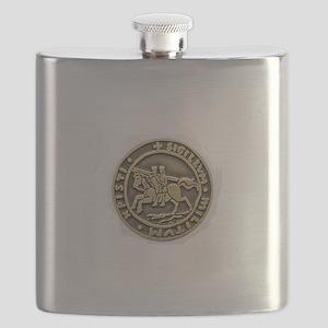 Knights Templar Seal Flask