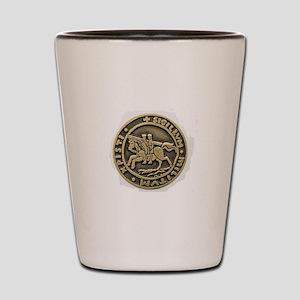 Knights Templar Seal Shot Glass