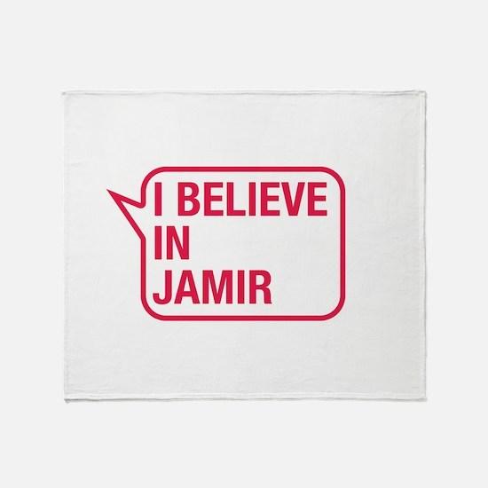 I Believe In Jamir Throw Blanket