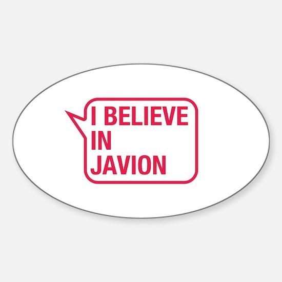 I Believe In Javion Decal
