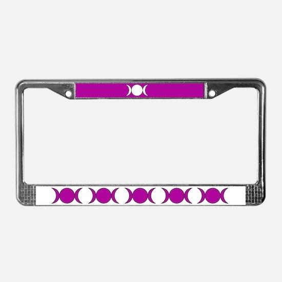 Purple Triple Moon License Plate Frame