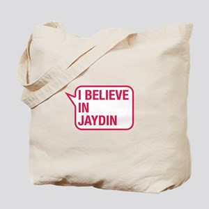 I Believe In Jaydin Tote Bag