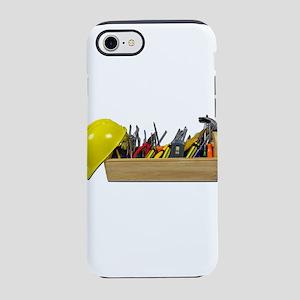 HardHatLongWoodenToolbox091711 iPhone 7 Tough Case