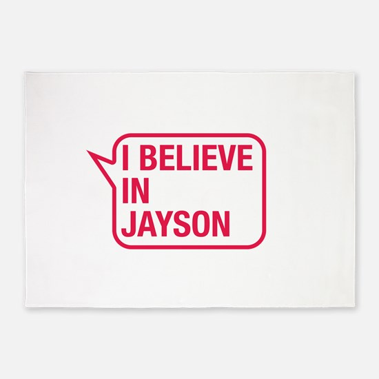 I Believe In Jayson 5'x7'Area Rug