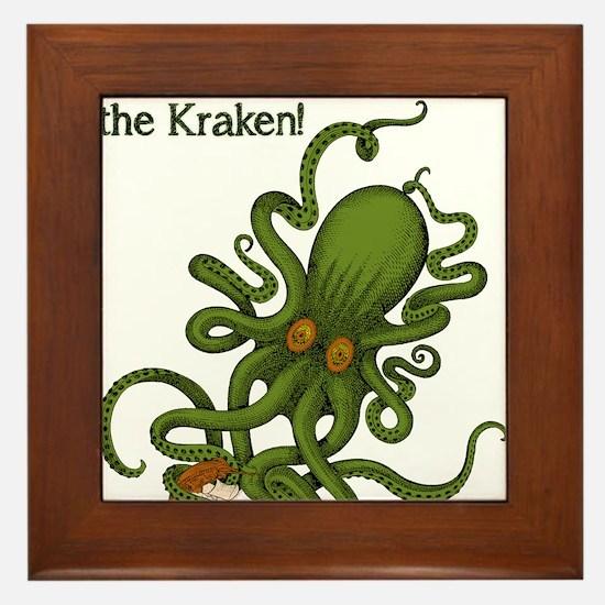 Don't make Me Release The Kraken Funny Framed Tile