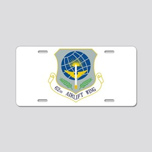 62nd AW Aluminum License Plate