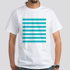 Turquoise and white horizontal stripes T-Shirt