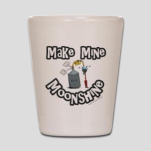 Make Mine Moonshine Shot Glass