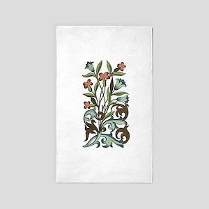 Vintage Flower Bluebell Floral Decoration 3'x5' Ar