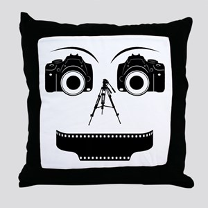 PHOTOGRAPHER FACE Throw Pillow