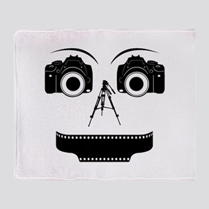 PHOTOGRAPHER FACE Throw Blanket