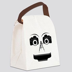 PHOTOGRAPHER FACE Canvas Lunch Bag