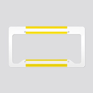 Yellow and white horizontal stripes License Plate