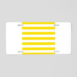 Yellow and white horizontal stripes Aluminum Licen