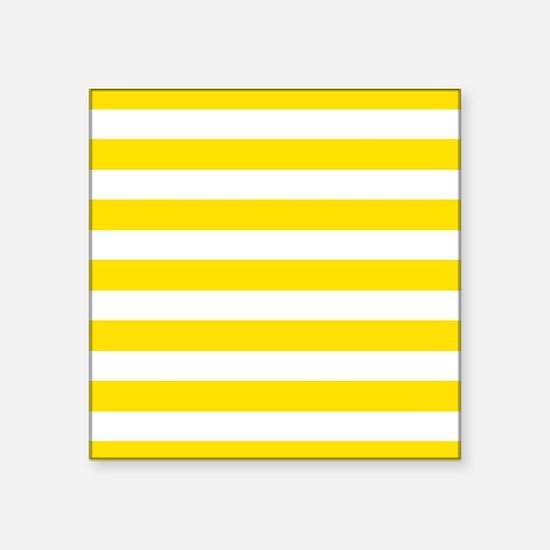 Yellow and white horizontal stripes Sticker
